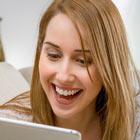 Female notification SMS message recipient