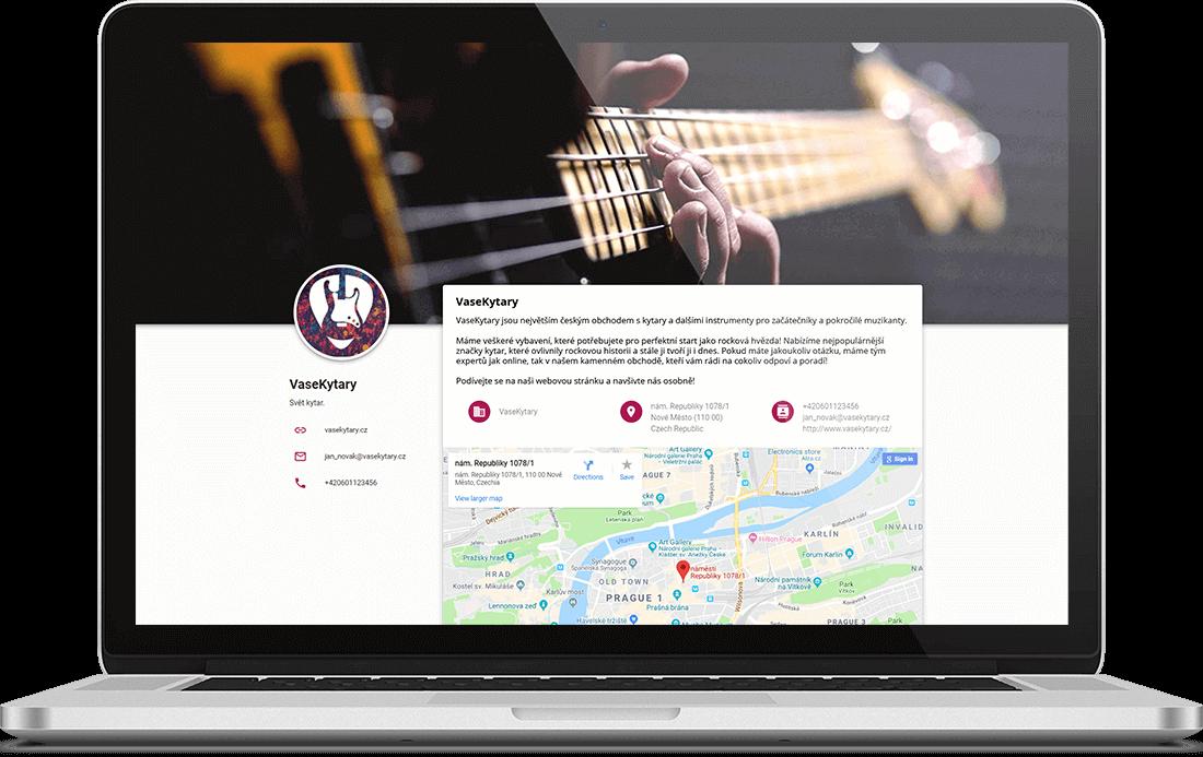Business stránka s kytary